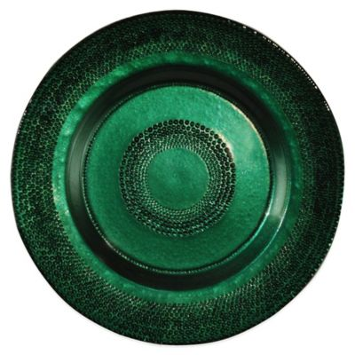 Dale Tiffany 13-Inch Glass Charger Plate