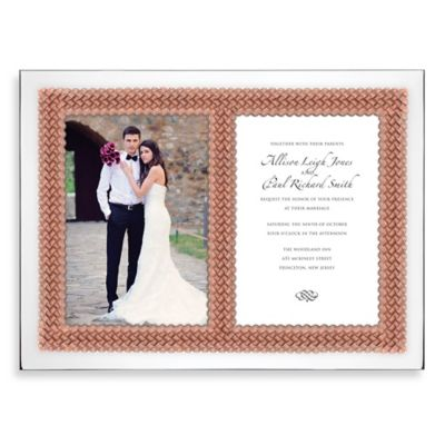 Lenox® Aegean Rose Double Invitation Frame