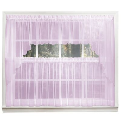 Emelia 14-Inch Sheer Window Valance in Lilac