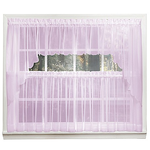 Buy emelia 14 inch sheer window valance in lilac from bed for 14 inch window