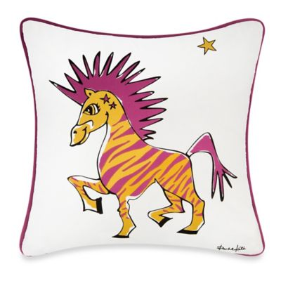 Rachel Kate Punk Rock Animal Girls Zebra 18-Inch Square Throw Pillow