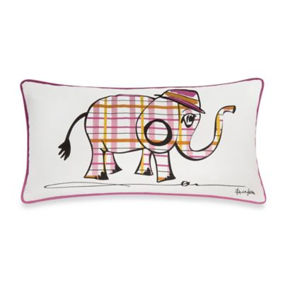 Rachel Kate Punk Rock Animal Girls Elephant Oblong Throw Pillow