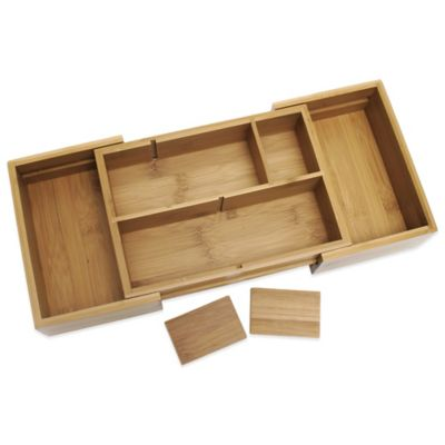 Lipper International 16-Inch Bamboo Expandable Organizer Tray