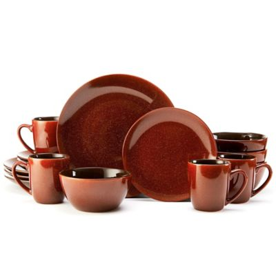 Mikasa® Gourmet Basics Lumina 16-Piece Dinnerware Set in Red