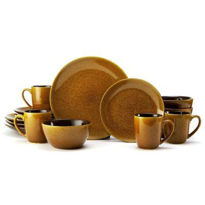 Mikasa® Gourmet Basics Lumina 16-Piece Dinnerware Set in Honey