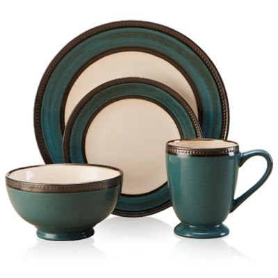 Pfaltzgraff® Everyday Catalina 16-Piece Dinnerware Set in Turquoise