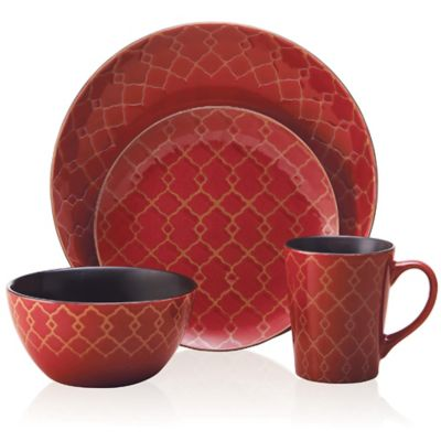 Pfaltzgraff 16-Piece Red Dinnerware Set