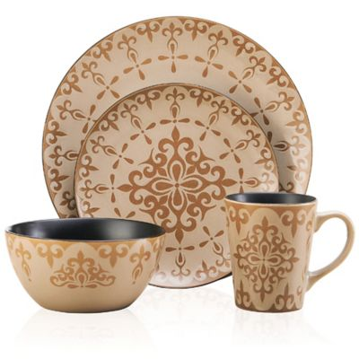 Pfaltzgraff® Everyday Vintage Mix and Match 16-Piece Dinnerware Set in Cream