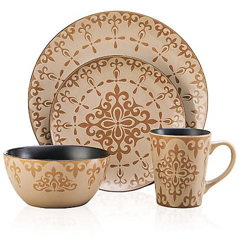 pfaltzgraff everyday vintage mix and match 16 piece dinnerware set in cream www. Black Bedroom Furniture Sets. Home Design Ideas