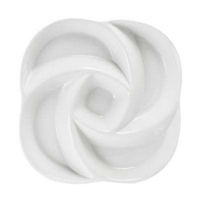 Everyday White® Swirl Chip and Dip 5 Section Server