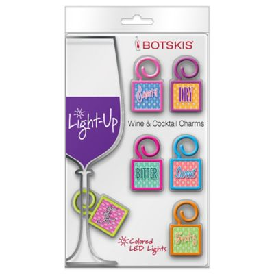Light-Up Wine and Cocktail Word Charms (6-Pack)