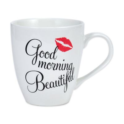 "Pfaltzgraff® Everyday ""Good Morning, Beautiful"" Mug in White"