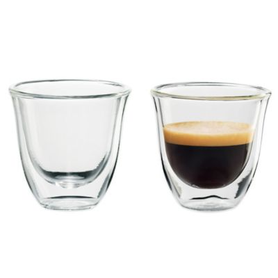 De'Longi Double Wall Thermo Espresso Glasses (Set of 2)