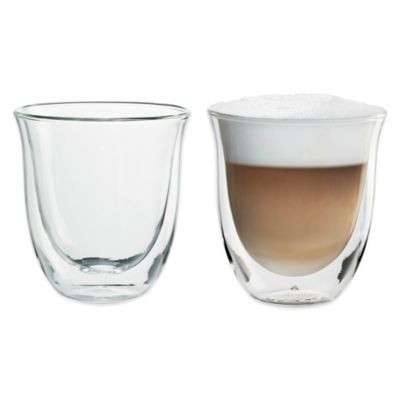 De'Longi 6 oz. Cappuccino Glasses (Set of 2)