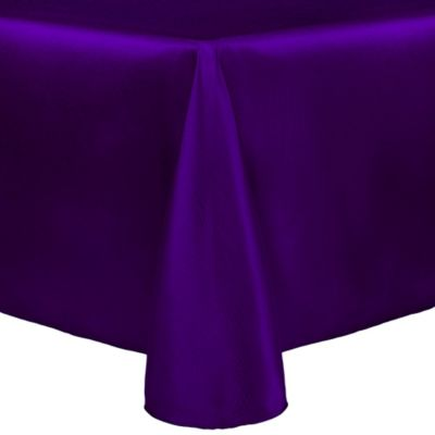 Purple Oblong Tablecloth