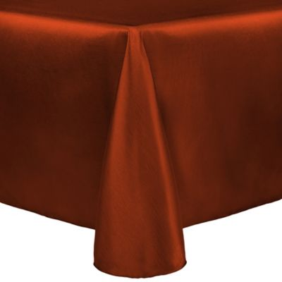 Majestic 90-Inch x 156-Inch Oblong Tablecloth in Burnt Orange
