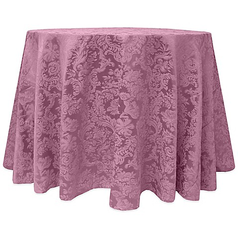 Buy miranda damask 120 inch round tablecloth in pink from for 120 round table cloths