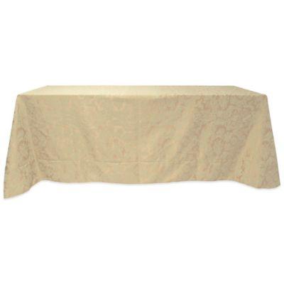 Miranda Damask 90-Inch x 156-Inch Oblong Tablecloth in Champagne