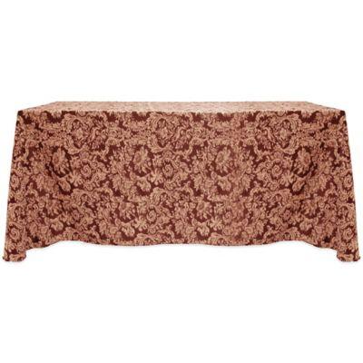 Miranda Damask 90-Inch x 156-Inch Oblong Tablecloth in Bordeaux