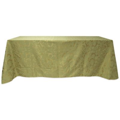 Miranda Damask 90-Inch x 156-Inch Oblong Tablecloth in Sage