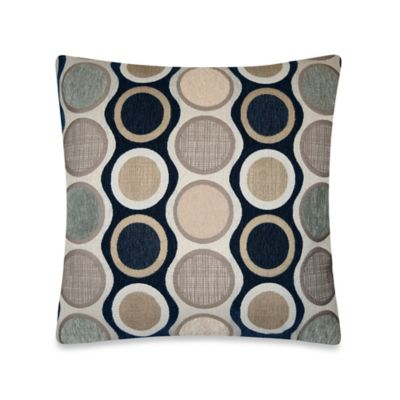 Circle Chenille Throw Pillow in Blue