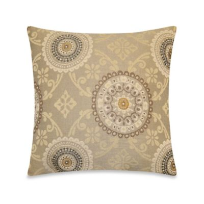 Sicily Throw Pillow in Flax