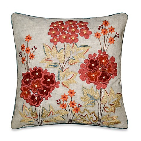 Red Throw Pillows For Bed : Faline Throw Pillow in Red - Bed Bath & Beyond