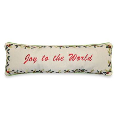 Joy to the World Throw Pillow in Natural