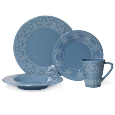 Mikasa® Sutton 4-Piece Place Setting in Teal