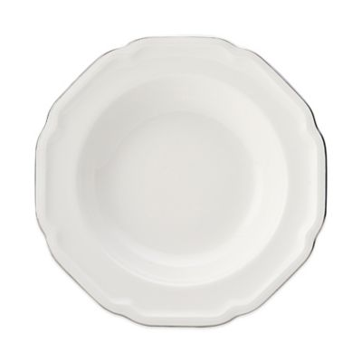 Mikasa® Antique White Platinum Rim Soup Bowl