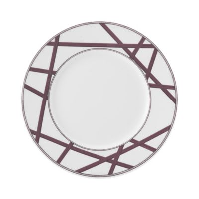 Mikasa® Cadence Crisscross Salad Plate in Ruby