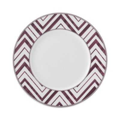 Mikasa® Cadence Zig Zag Salad Plate in Ruby