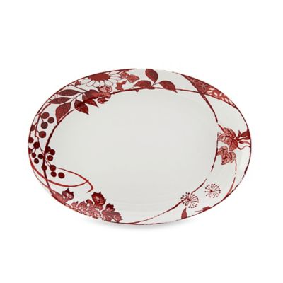 Mikasa Red Oval Platter