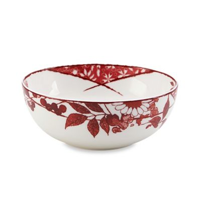 Red White Soup Cereal Bowls