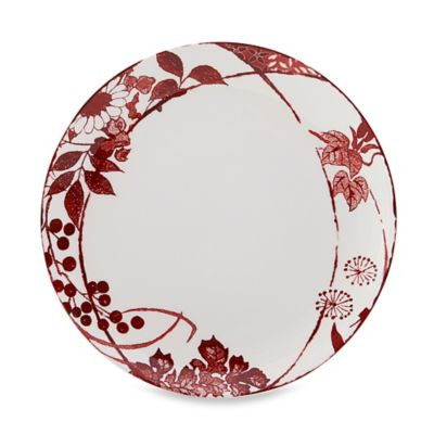 Red Mikasa Dinner Plates