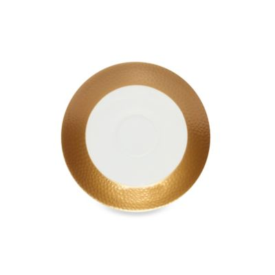 Microwave Safe Gold Saucer