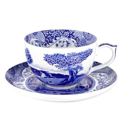 Spode® Blue Italian Jumbo Cup and Saucer
