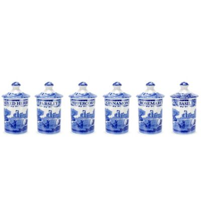 Spode® Blue Italian Spice Jar (Set of 6)