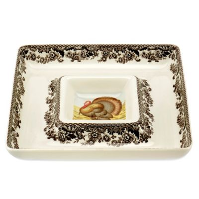 Spode® Woodland Turkey Chip and Dip Set