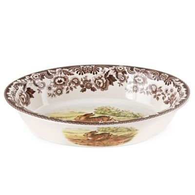 Spode® Woodland Rabbit/Pheasant Oval Rim Dish
