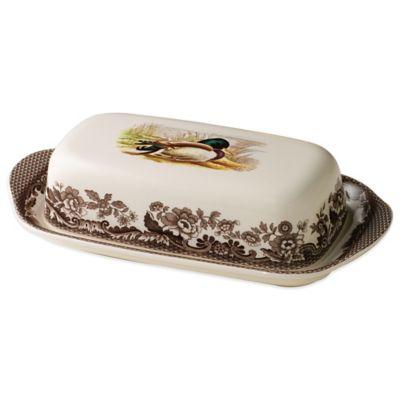 Spode® Woodland Mallard Covered Butter Dish
