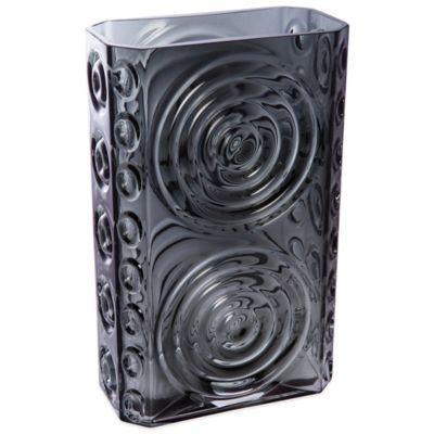 Dartington Crystal Echo Rectangular Vase in Black