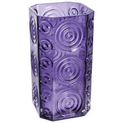 Dartington Crystal Echo Square Vase in Amethyst