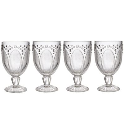 Edie Rose By Rachel Bilson Clear 12-Ounce Goblets (Set of 4)