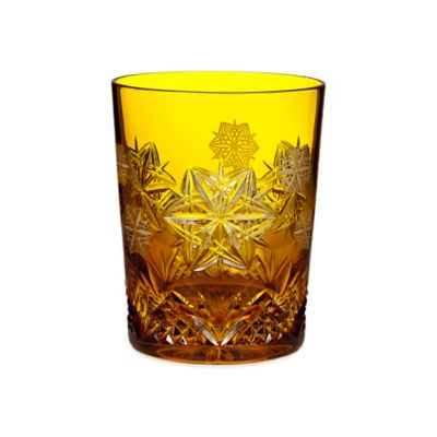 Waterford Snowflake Wishes 2014 4th Edition Peace Mooncoin Prestige Amber Double Old Fashioned