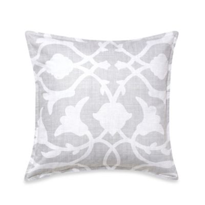 Barbara Barry® Poetical Square Throw Pillow in Cinder