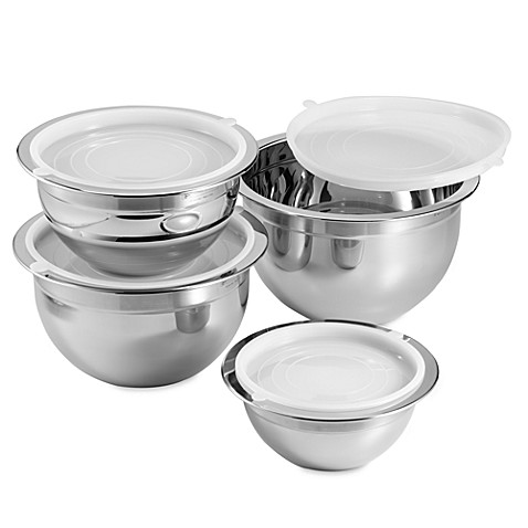 Oggi™ Professional Grade 4-Piece Mixing Bowl Set in Stainless Steel - BedBathandBeyond.com