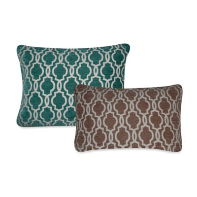 Gwen Tile Throw Pillow in Teal