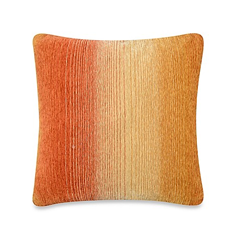 Ombre Stripe Square Throw Pillow in Gold - Bed Bath & Beyond