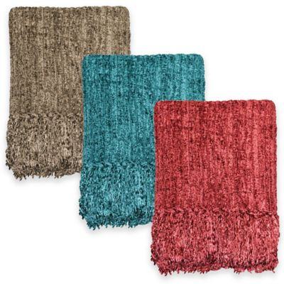 Bedford Chenille Throw in Coffee